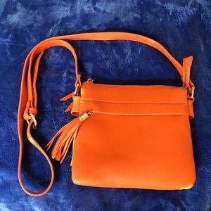 ✨2 for $20 Orange Leather Crossbody bag